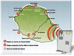 carte des radars ile de la reunion